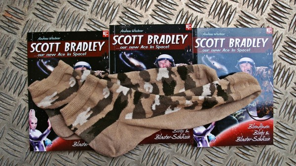 Commander Scott Bradley seine Socken