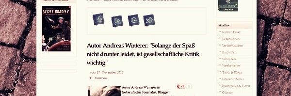 kult-literaten.de interviewt Andreas Winterer