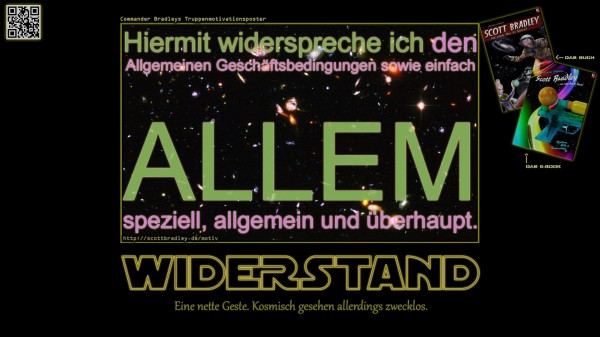 Bradleys Motivationsposter: WIDERSTAND