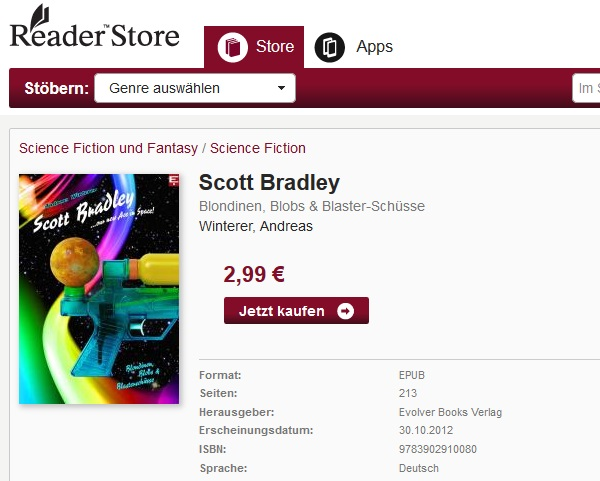 Scott Bradley eBook im Sony Reader Store
